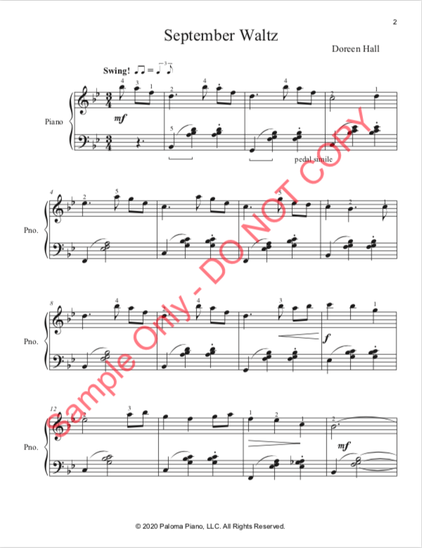 Paloma Piano - September Waltz - Page 2