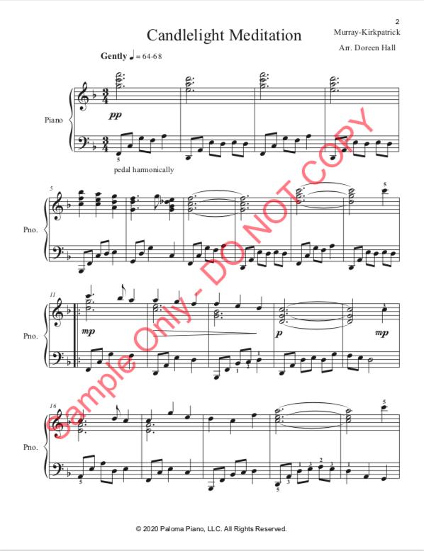 Paloma Piano - Candlelight Meditation - Page 1