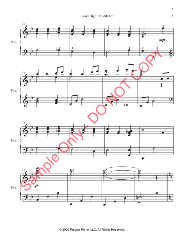 Paloma Piano - Candlelight Meditation - Page 3