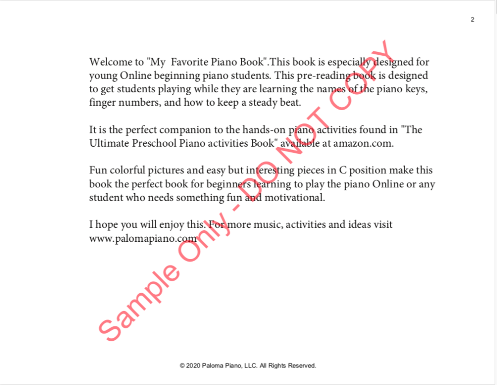 Paloma Piano - My Favorite Piano Book - Page 2