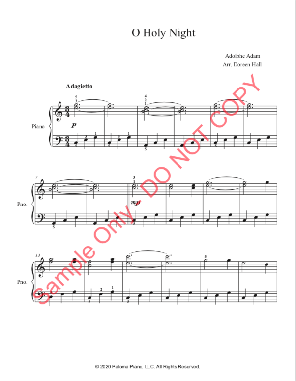 Paloma Piano - O Holy Night - Page 1