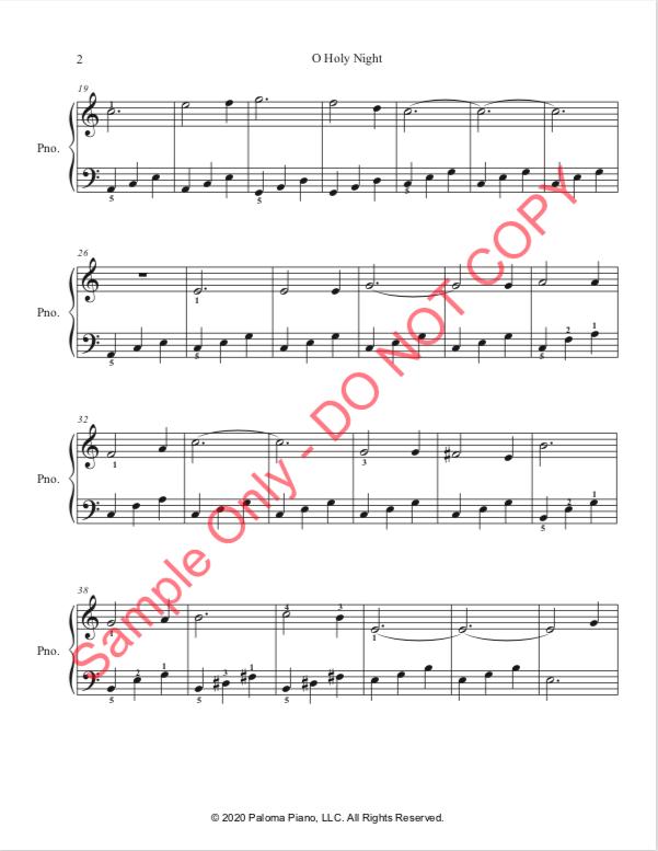 Paloma Piano - O Holy Night - Page 2