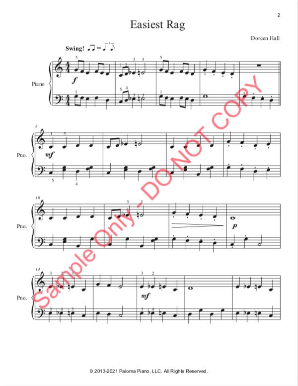 Paloma Piano - Easiest Rag - Page 1