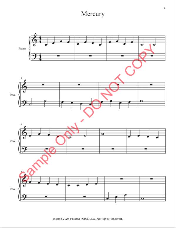 Paloma Piano - Mercury - Page 4