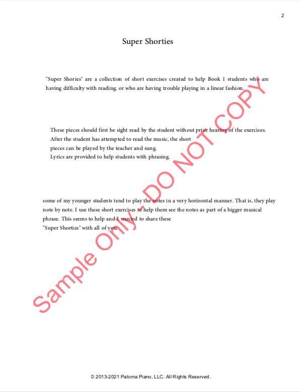 Paloma Piano - Super Shorties - Page 2