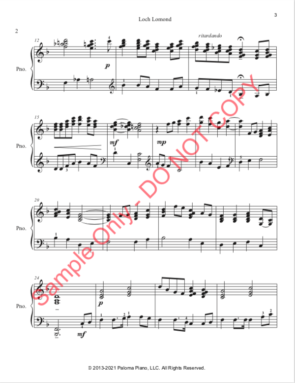 Paloma Piano - Loch Lomond - Page 3
