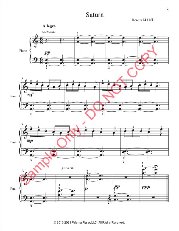 Paloma Piano - Saturn - Page 2