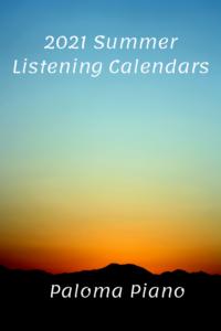 Paloma Piano - 2021 Summer Listening Calendar