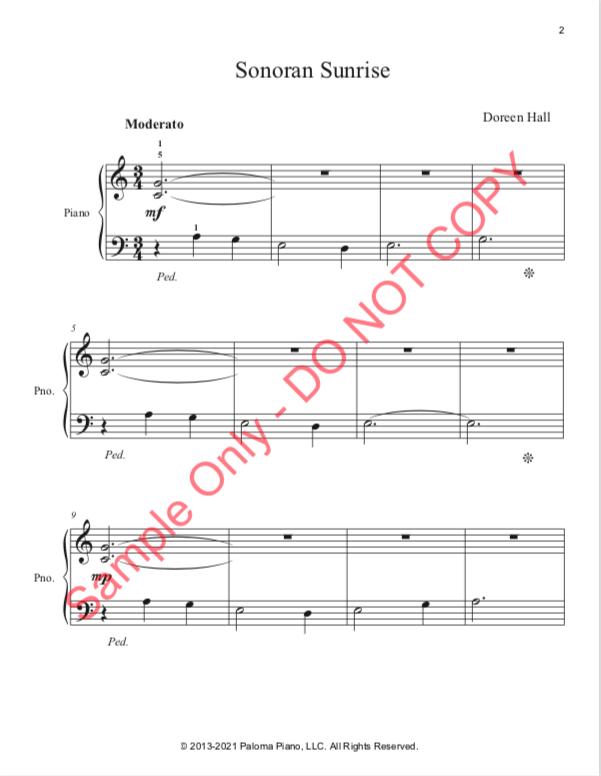 Paloma Piano - Sonoran Sunrise - Page 2