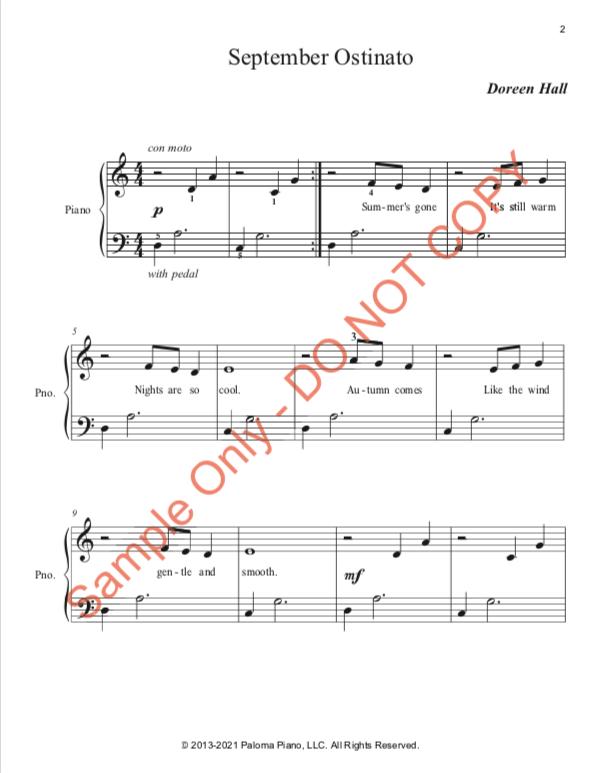 Paloma Piano - Three Ostinato Pieces for Autumn - Page 2