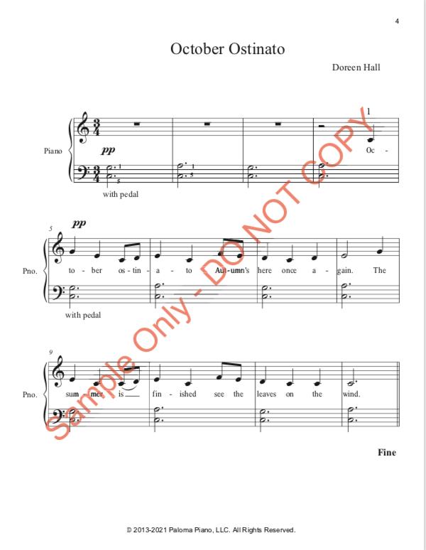 Paloma Piano - Three Ostinato Pieces for Autumn - Page 4