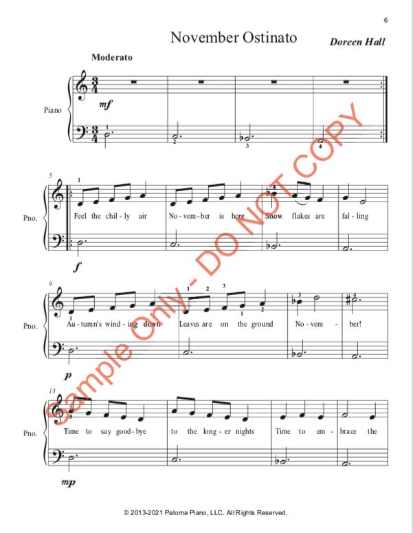 Paloma Piano - Three Ostinato Pieces for Autumn - Page 6
