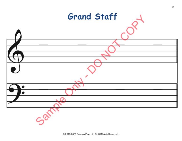 Paloma Piano - Staff Worksheets - Page 1