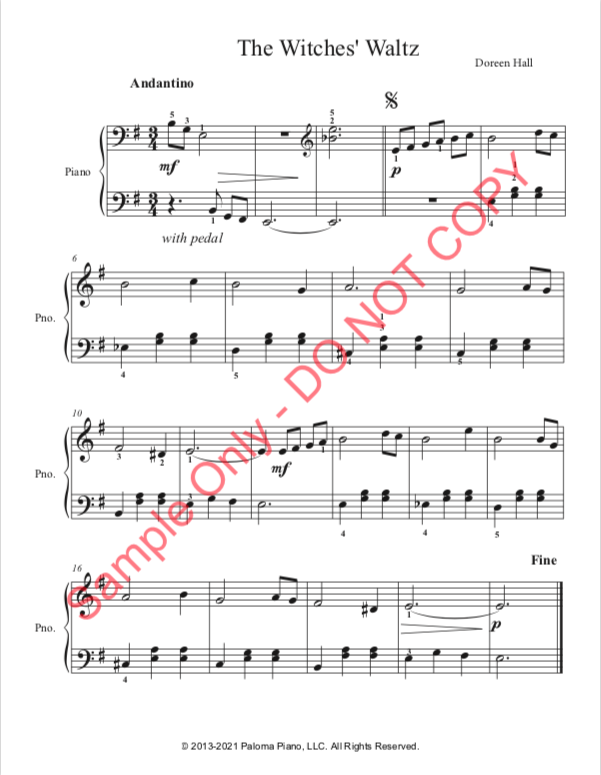 Paloma Piano - Witches' waltz_Page 1