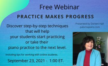 """Practice Makes Progress"" Free Webinar."