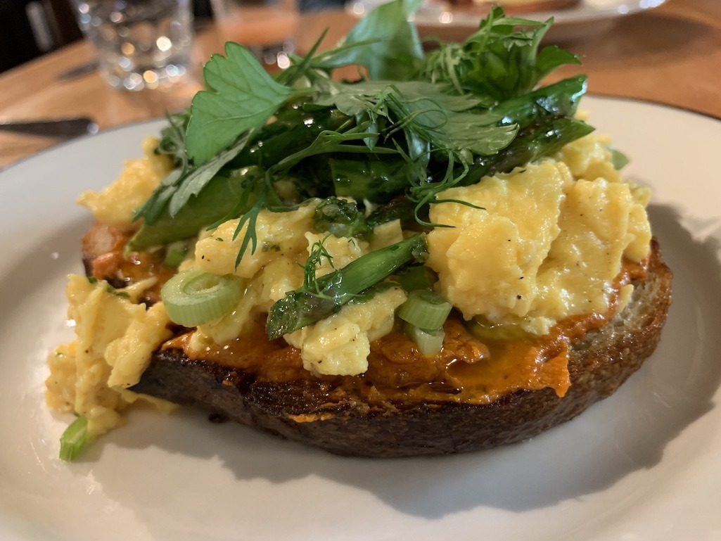 Egg sandwich of the day at Clementine Cafe Winnipeg