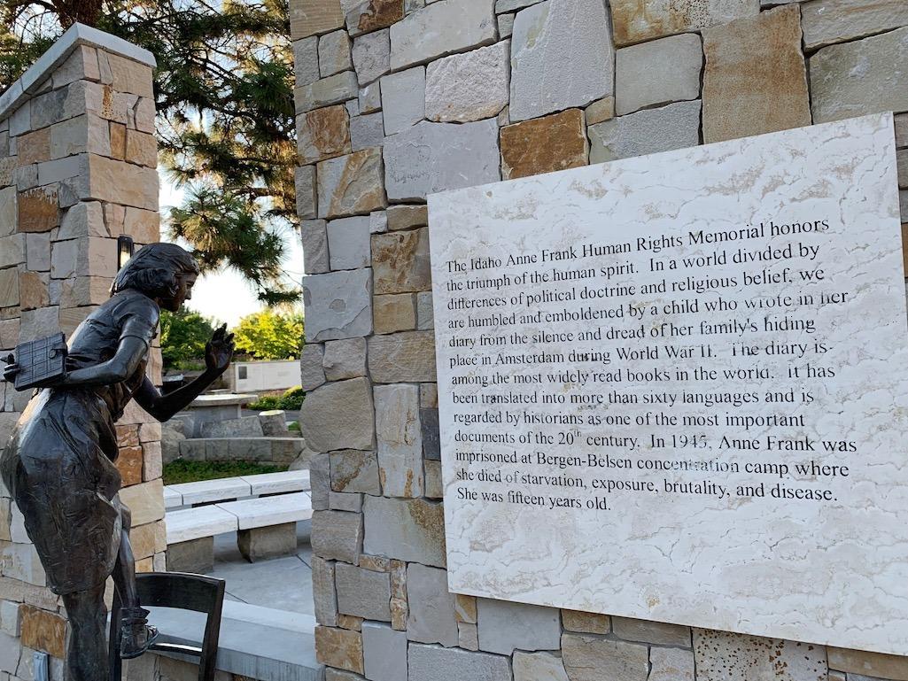 Anne Frank Human Rights Memorial Boise Idaho