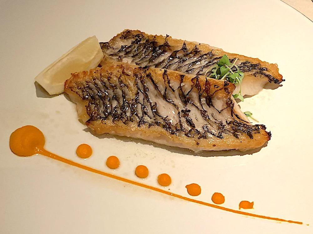 Fish course at Avista Madeira