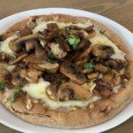 Garlic Mushroom Pita Pizza
