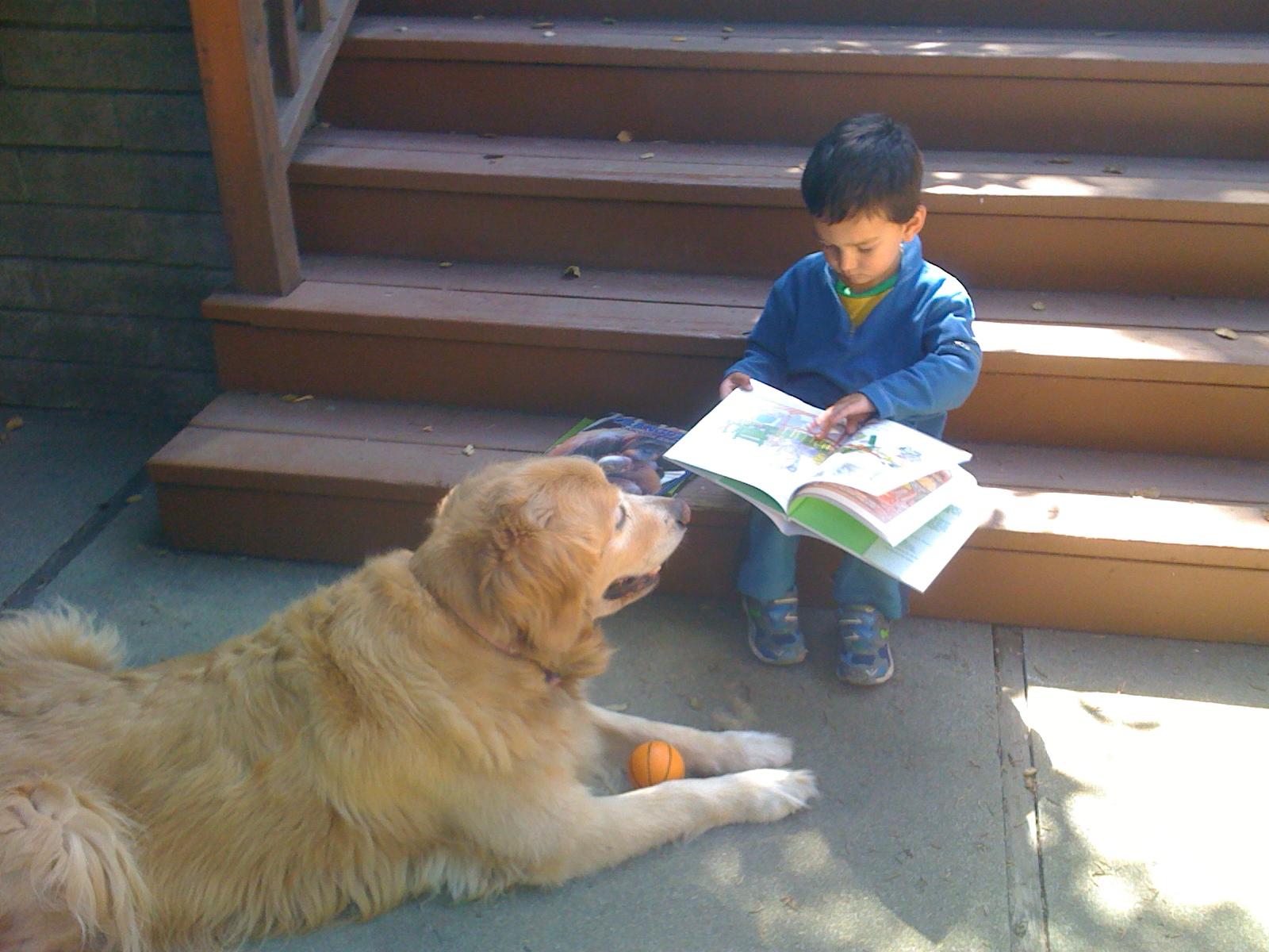 Joanne Rocklin's Grandson and Dog photo