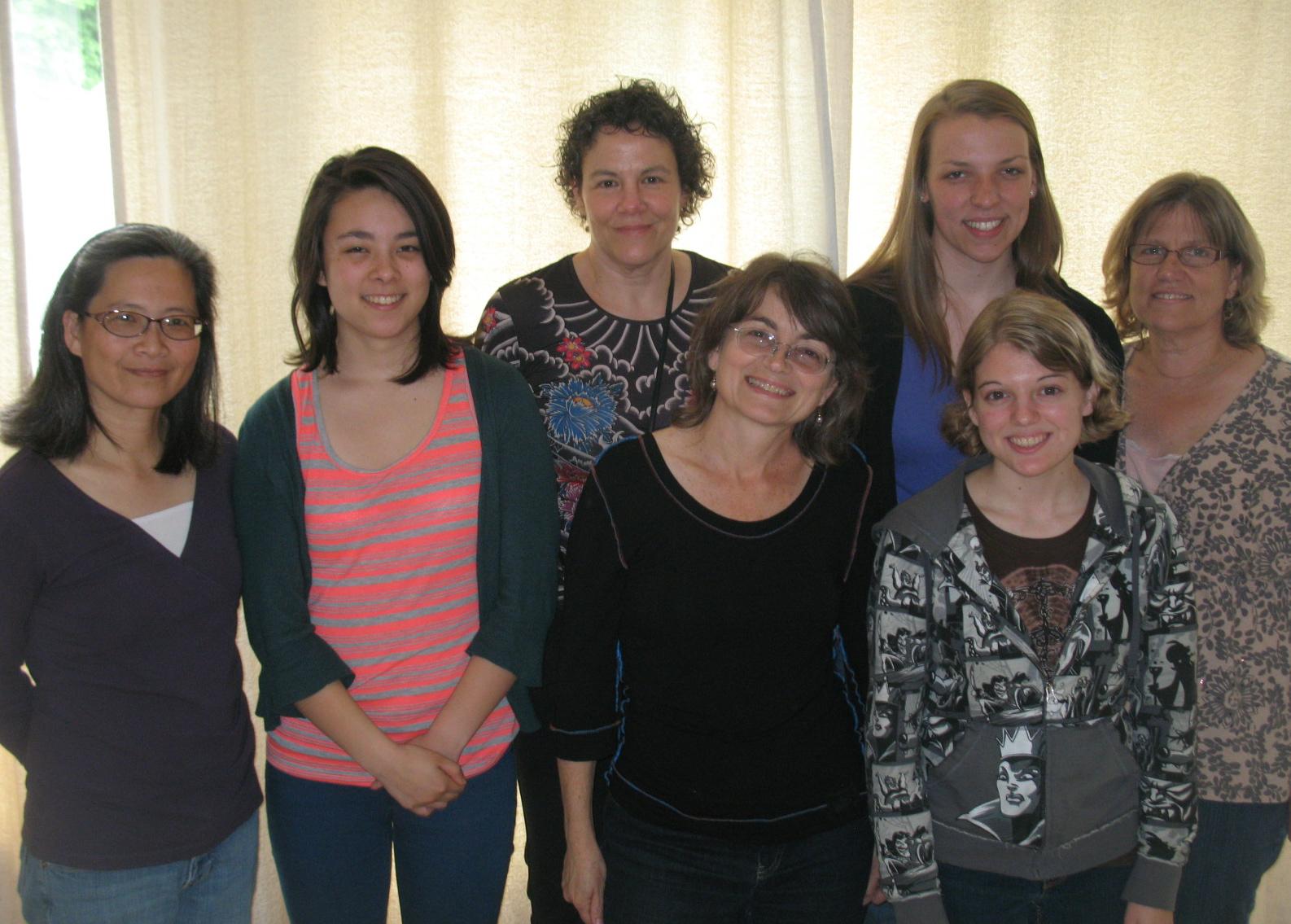 Last book club meeting photo