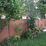 Rustic vinyl fencing in North Hollywood