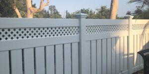 Outdoor vinyl fence