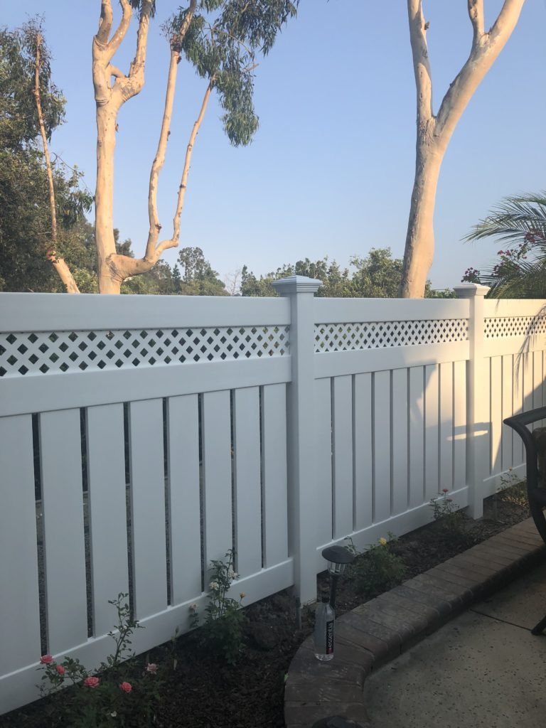 Outdoor vinyl fence
