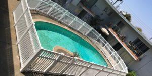 vinyl pool fences