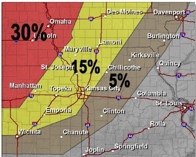 Large hail (National Weather Service graphic)