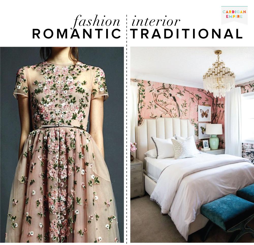 Fashion vs. Interior: Romantic & European Traditional