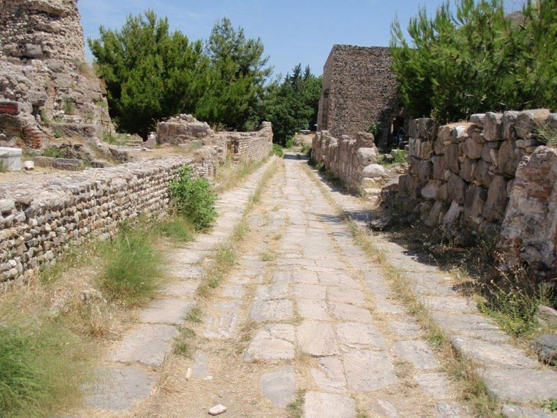 Ancient Roman Road on the Island of Kos
