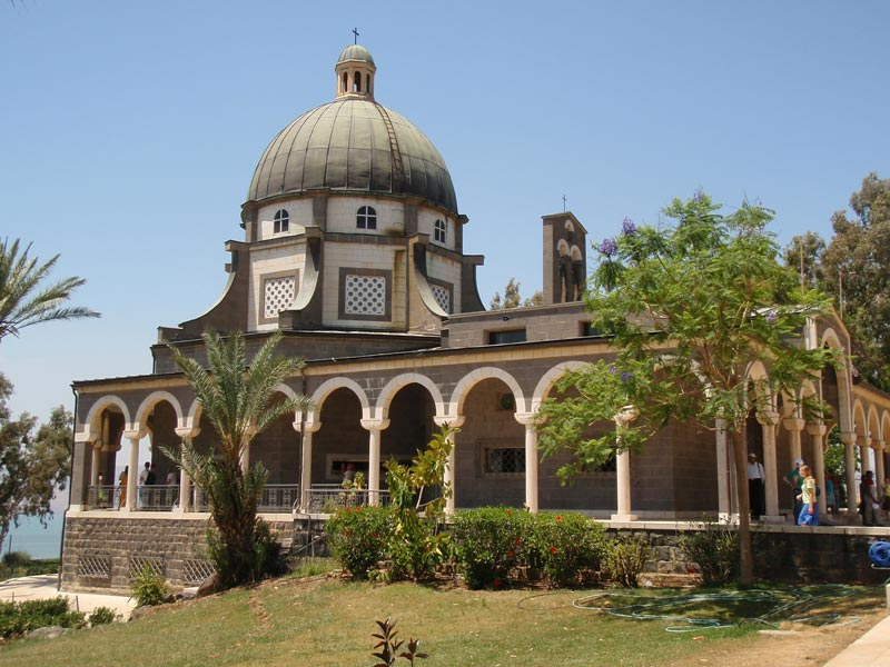 The Mount of Beatitudes is a hill in northern Israel where Jesus is believed to have delivered the Sermon on the Mount.