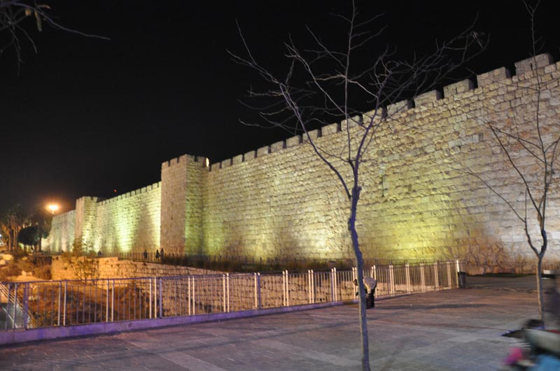 Walls near of Jaffa gate, Old city of jerusalem, Israel