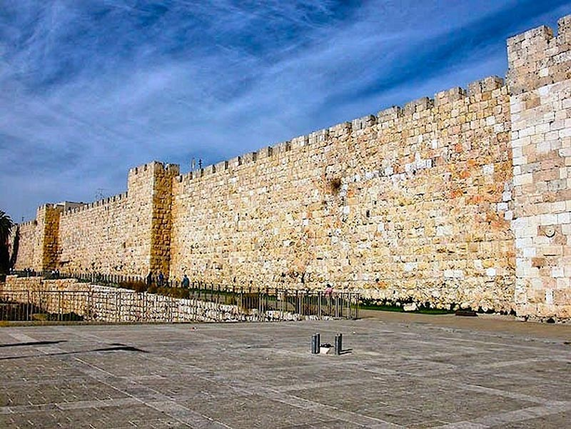 Wall near the Jaffa Gate in Jerusalem
