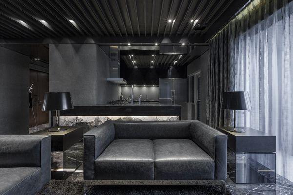 Black Theme Living Room