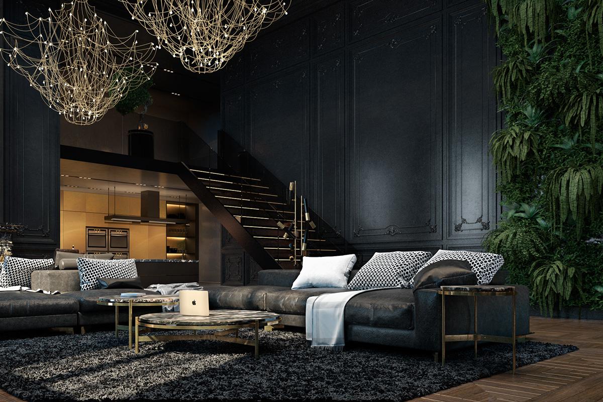 Black Style Living Room