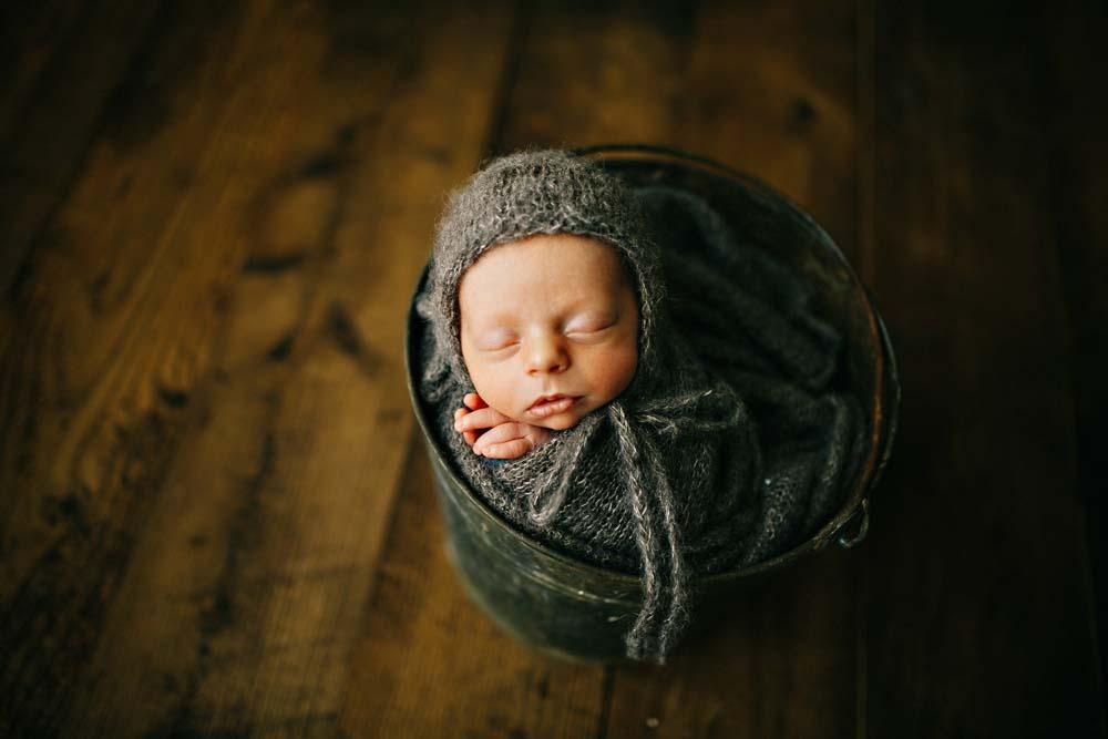 newborn in gray 3