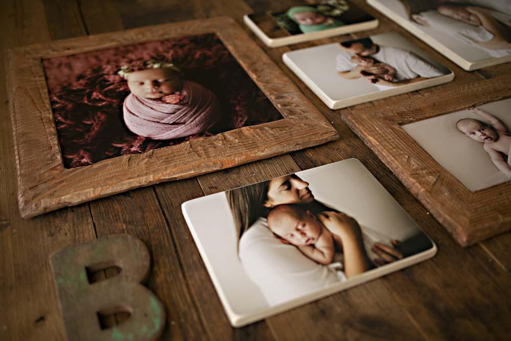 portraits on ground