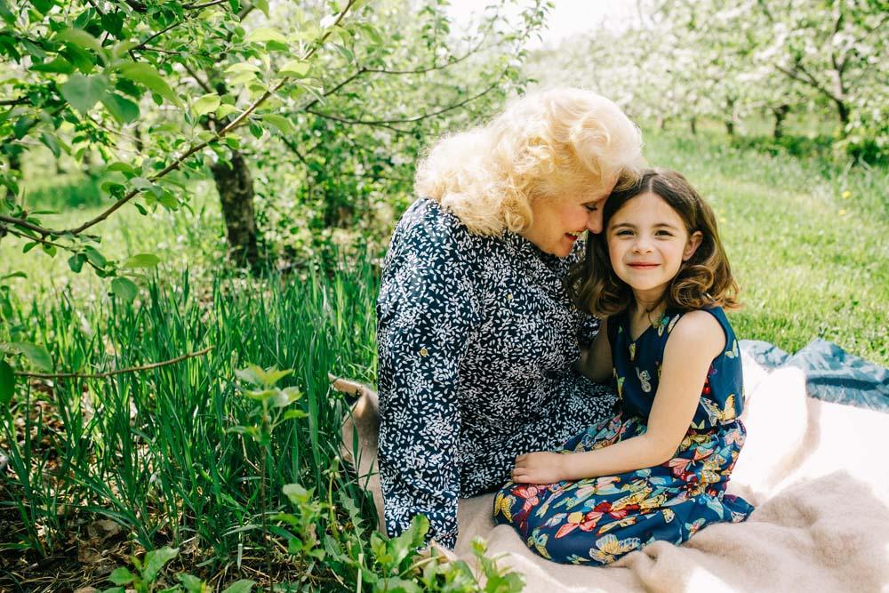 grandma and girl