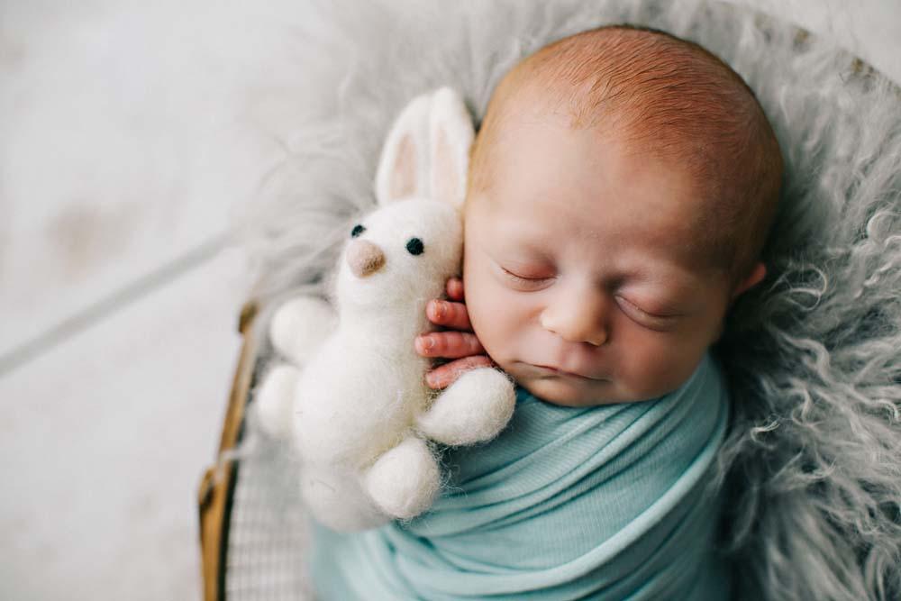 sleeping newborn in turquoise 3