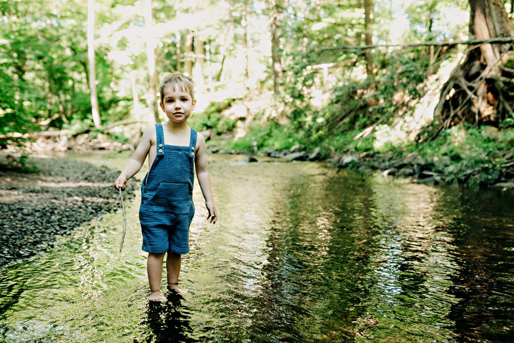boy in pond