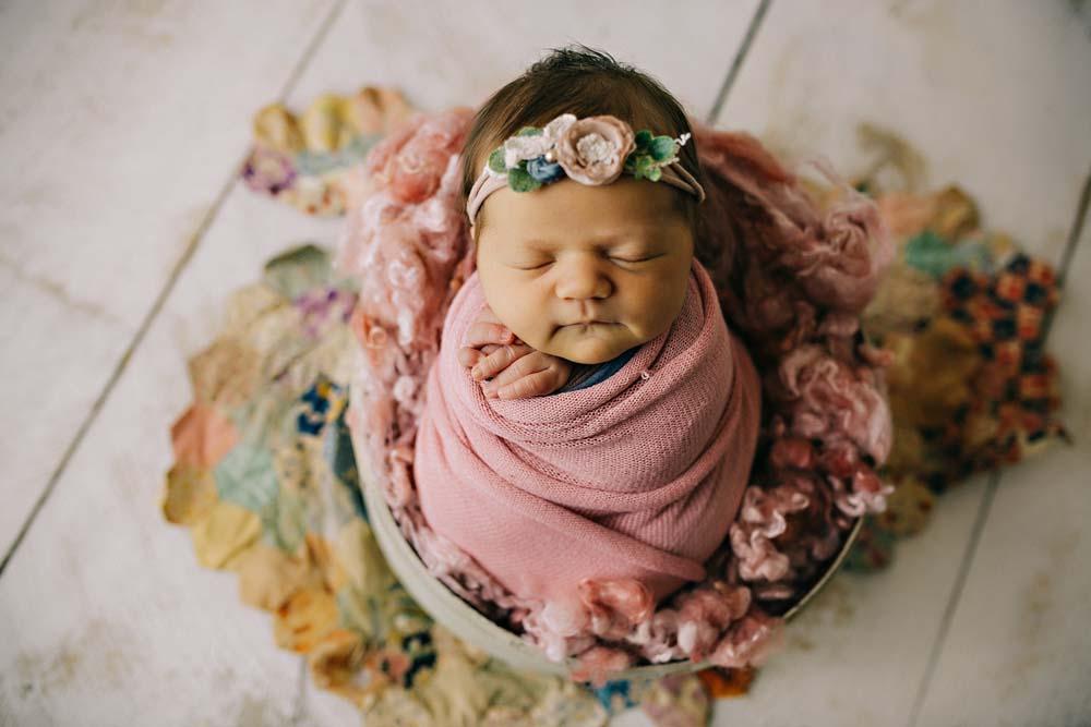 newborn pink flower