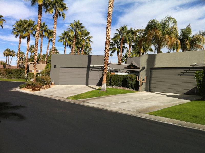 Tallarico contrasting garage doors