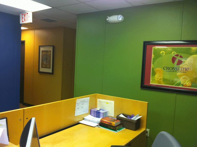 church office reception area