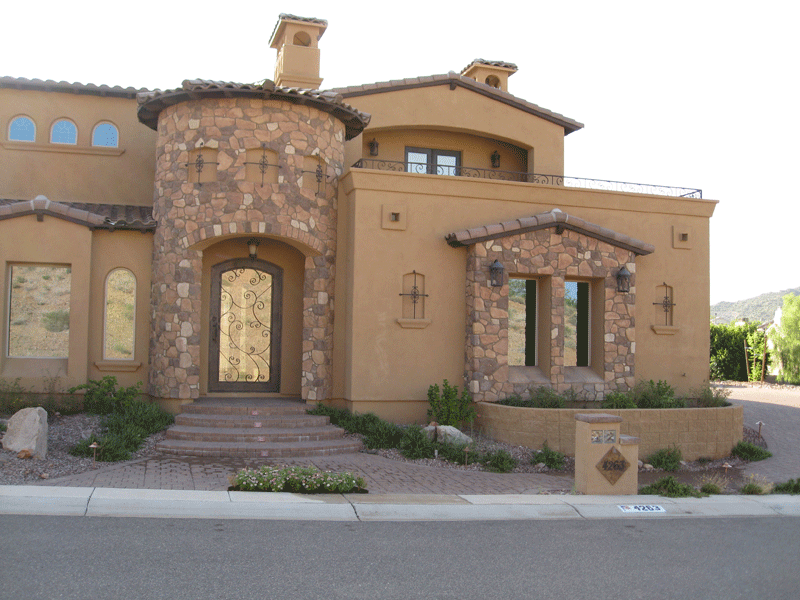 Natural Rock and Roof Blend with Home Color