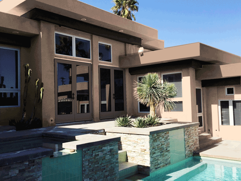 Desert Style Home Back View
