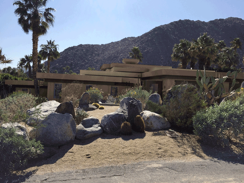 Desert Style Home Front View