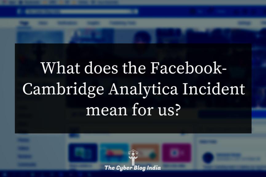 Facebook Cambridge Analytica Incident