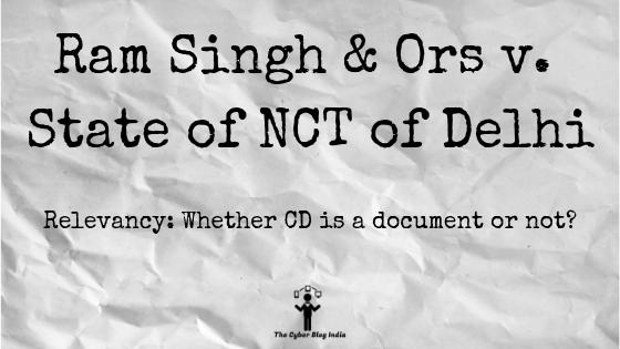 Ram Singh & Ors v. State of NCT of Delhi